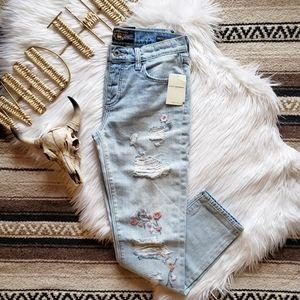 Lucky Brand   Sienna Embroidered Boyfriend Jeans